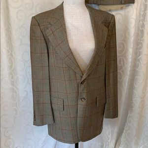 Vintage 1970's Christian Dior Wool 2 pc Suit GUC
